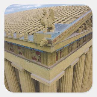 Parthenon Square Sticker