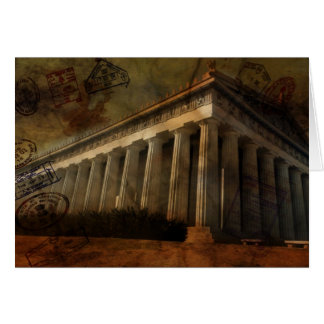 Parthenon, Temple of Athena Card