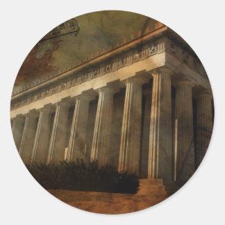 Parthenon, Temple of Athena Classic Round Sticker