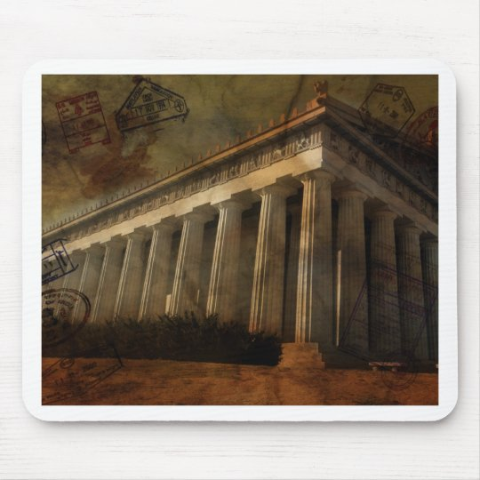 Parthenon, Temple of Athena Mouse Pad