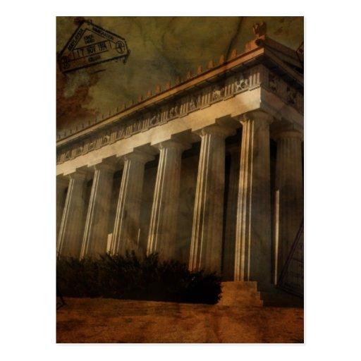 Parthenon, Temple of Athena Postcard