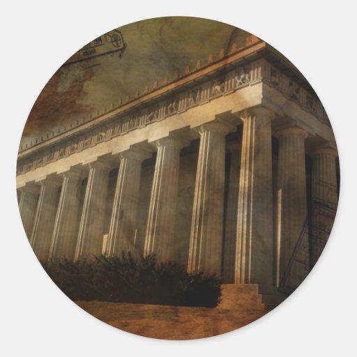 Parthenon, Temple of Athena Round Sticker
