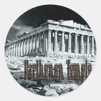 Parthenon temple series classic round sticker