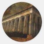 Parthenon, templo de Athena Etiqueta Redonda