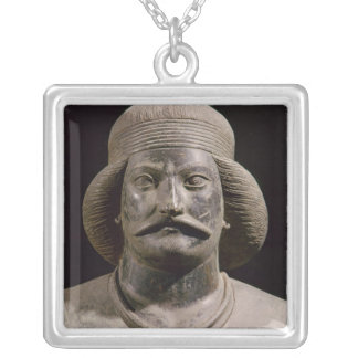 Parthian warrior, from Shami, 01st century AD Square Pendant Necklace