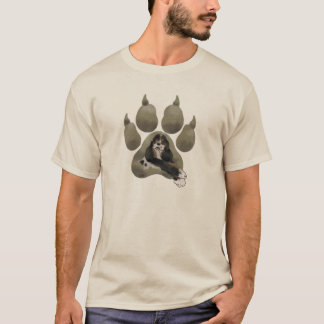 Parti Cocker Paw Print T-Shirt