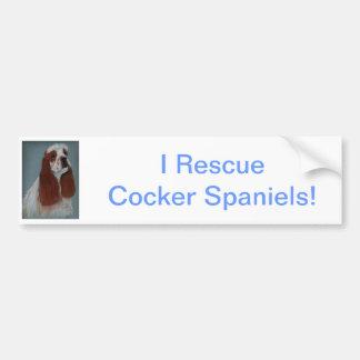 Parti Cocker Spaniel Bumper Sticker