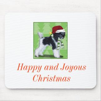 Parti Poodle Christmas Mouse Pad