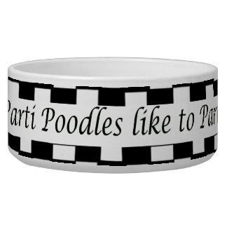 Parti Poodles like to Party Dog Water Bowl