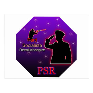 Parti Socialiste Révolutionnaire Logo Postcard