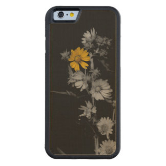 Partial Color Black and White Flower Maple iPhone 6 Bumper Case