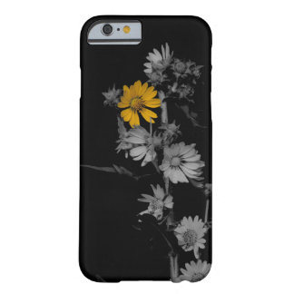 Partial Color Black and White Flower iPhone 6 Case