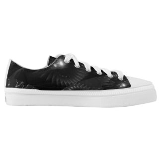 Partial Eclipse B&W - fractal Low-Top Sneakers