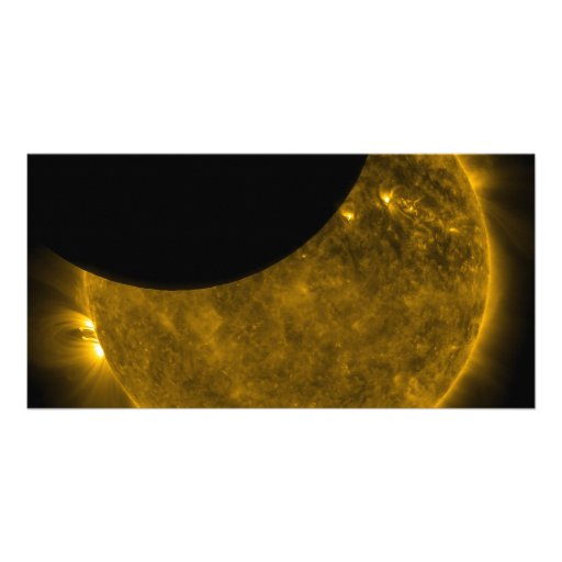 Partial Eclipse of the Sun Photo Greeting Card