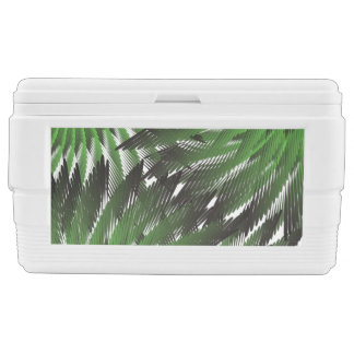 Partial Green Ferns Chest Cooler