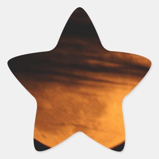 Partial Lunar Eclipse Star Stickers