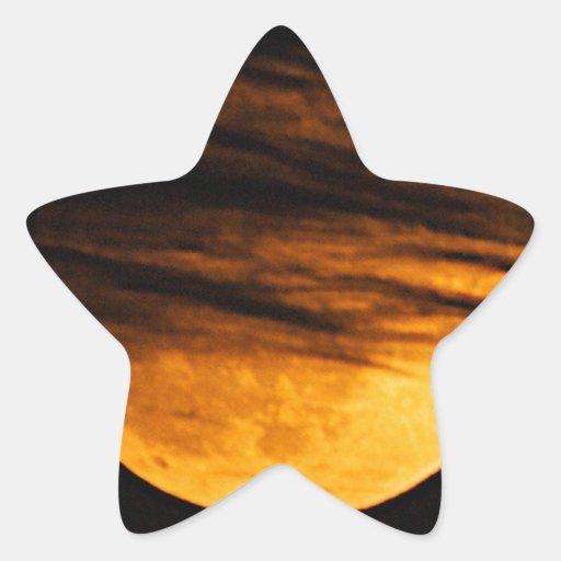 Partial Lunar Eclipse Star Sticker