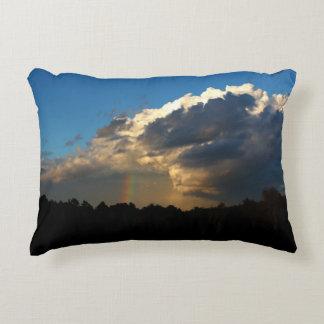 Partial Rainbow Accent Pillow