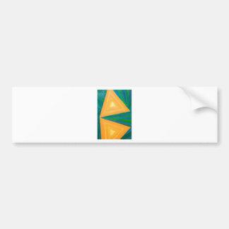 Partial Triangles (geometric expressionism) Bumper Sticker