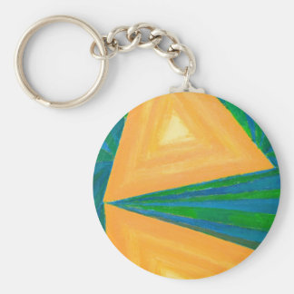 Partial Triangles geometric expressionism Keychain