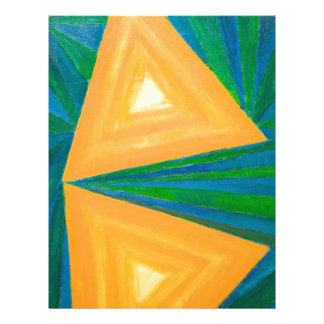 Partial Triangles (geometric expressionism) Letterhead