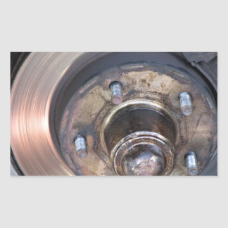 Partial vehicle brake disc and bolts stickers