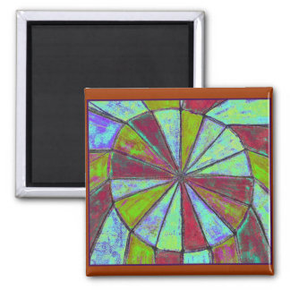 partially circular logic 2 inch square magnet
