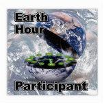Participante de la hora de la tierra escultura fotográfica