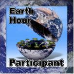 Participante de la hora de la tierra esculturas fotograficas