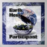 Participante de la hora de la tierra impresiones