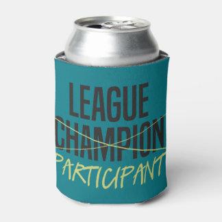 Participante de la liga de fútbol de la fantasía enfriador de latas