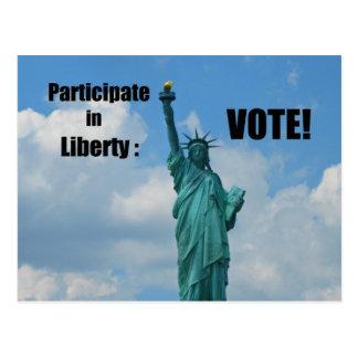 Participate in Liberty: VOTE! Postcard
