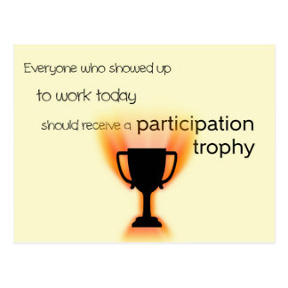 Participation Trophy Postcard