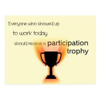 Participation Trophy Postcard