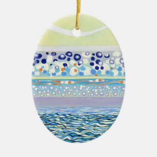 Particle Evaporation Ceramic Ornament