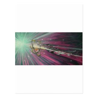"""particle"" original oil painting postcard"