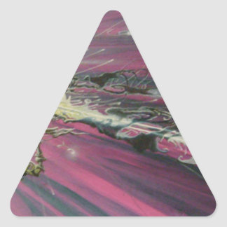 """""""particle"""" original oil painting triangle sticker"""