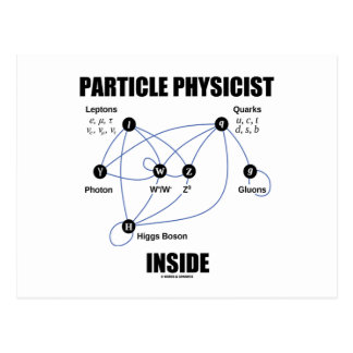 Particle Physicist Inside (Standard Model Higgs) Postcard