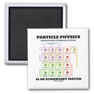Particle Physics Is An Elementary Matter Model Magnet