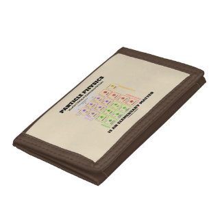 Particle Physics Is An Elementary Matter Model Trifold Wallet