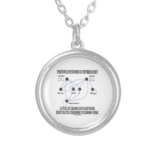 Particle Physics Is Nothing But A Pool Of Massless Silver Plated Necklace
