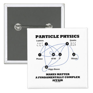 Particle Physics Makes Matter A Fundamentally Pinback Buttons