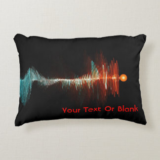 Particle-Wave Duality Accent Pillow