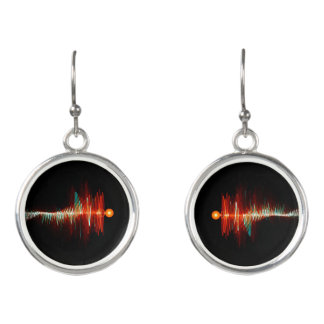 Particle-Wave Duality Earrings