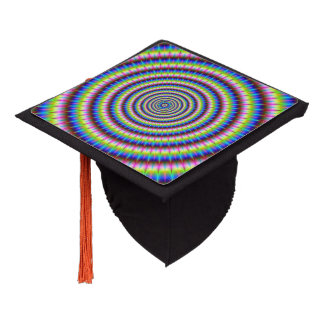Particles and Waves with Floral Motif Graduation Cap Topper