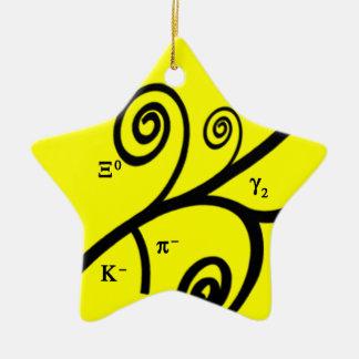 Particles! Ceramic Ornament