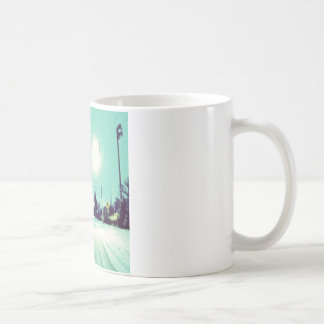 Particles that make light coffee mug
