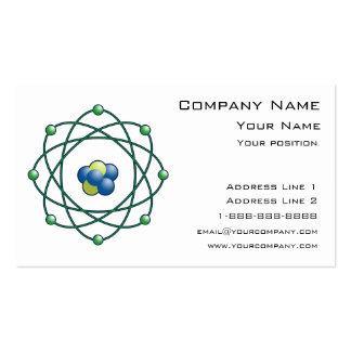 Partículas atómicas plantillas de tarjetas personales