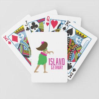 Partida de la isla baraja cartas de poker