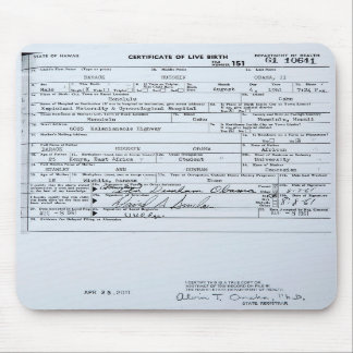 Partida de nacimiento original certificada de Bara Tapete De Raton